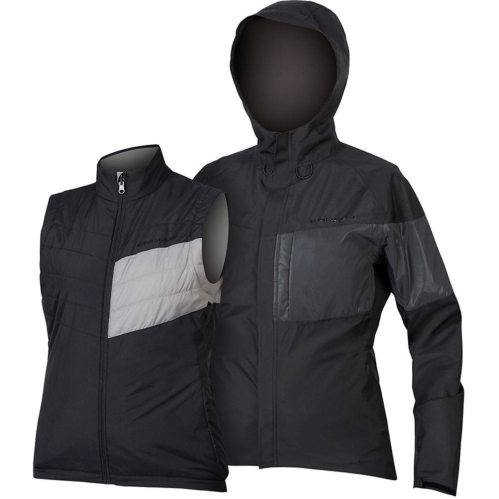 Endura Womens Urban Luminite 3 In 1 Wp Jacket - Black-reflective - Xl  Black-reflective