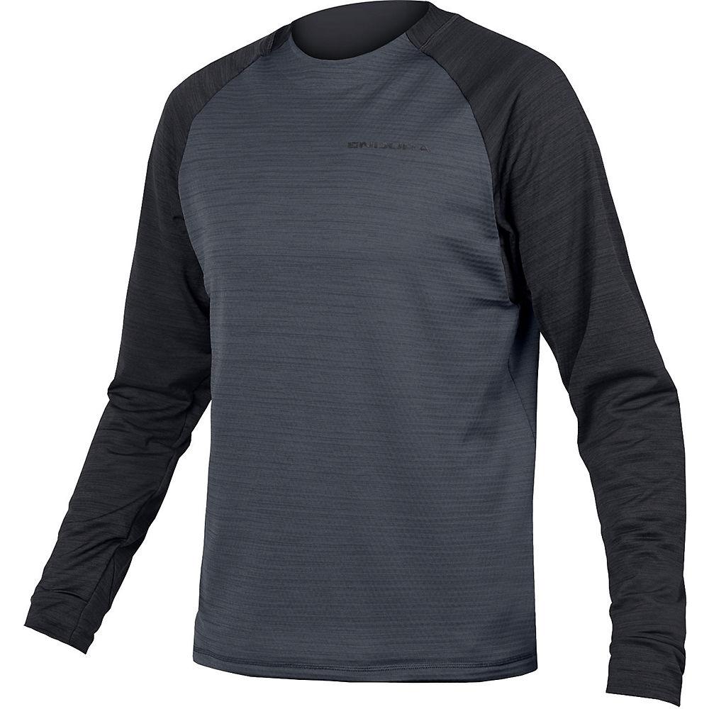 Endura Singletrack Fleece MTB Jersey - Black - XXL, Black