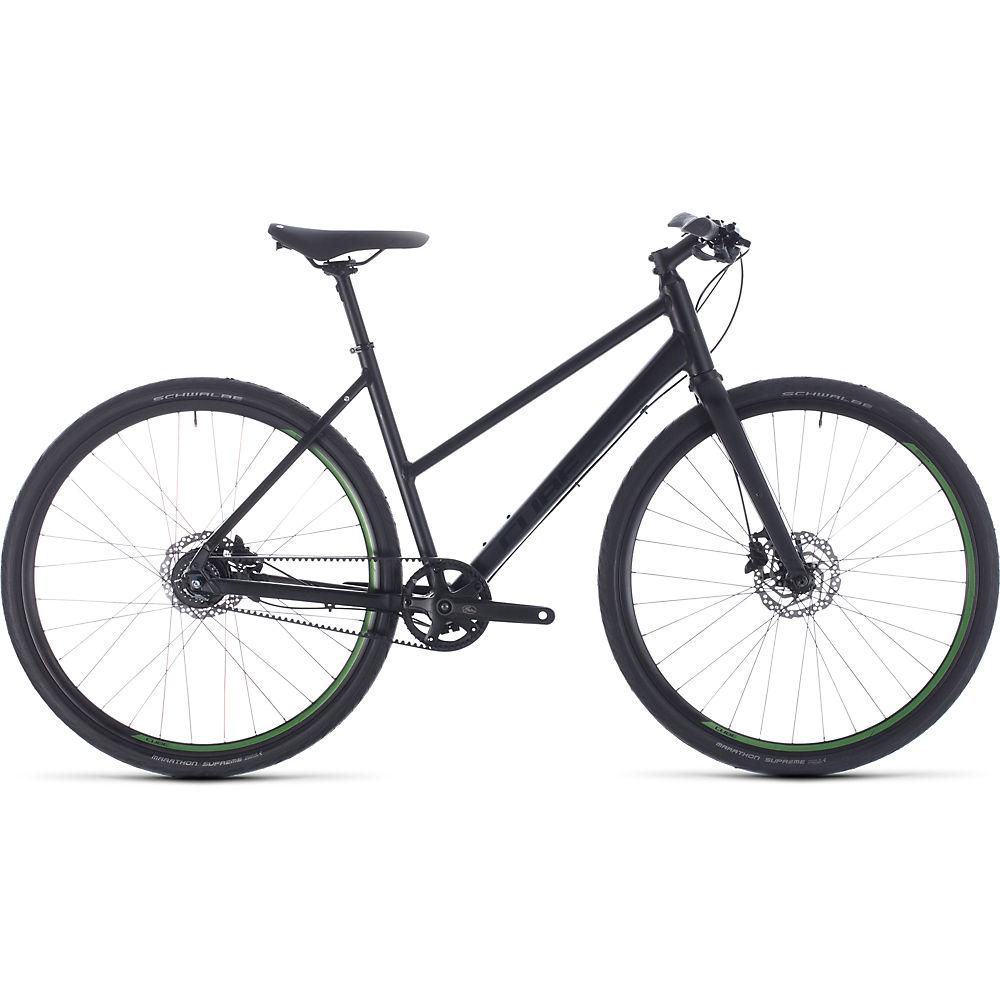 "Image of Cube Hyde Race Trapeze Urban Bike (2020) 2020 - Black - Green - 50cm (19.5""), Black - Green"