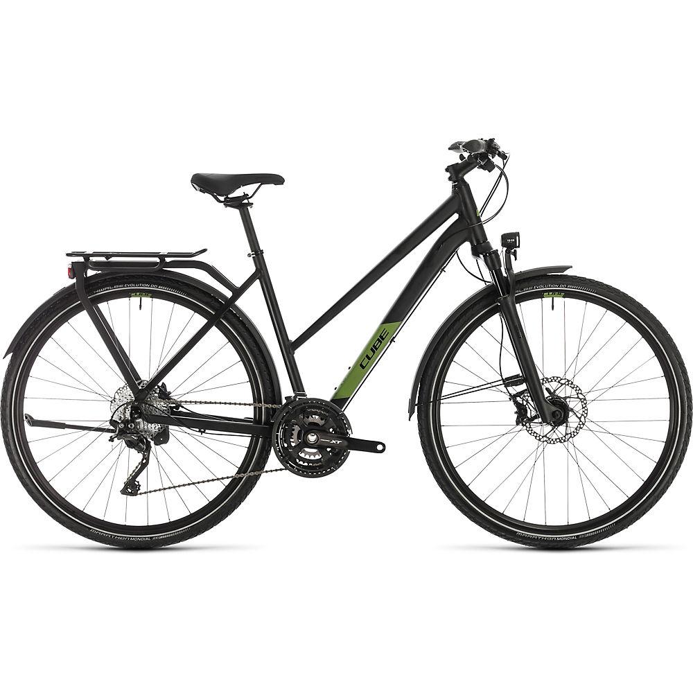 "Image of Cube Kathmandu SL Trapeze Touring Bike (2020) 2020 - Black - Green - 46cm (18""), Black - Green"