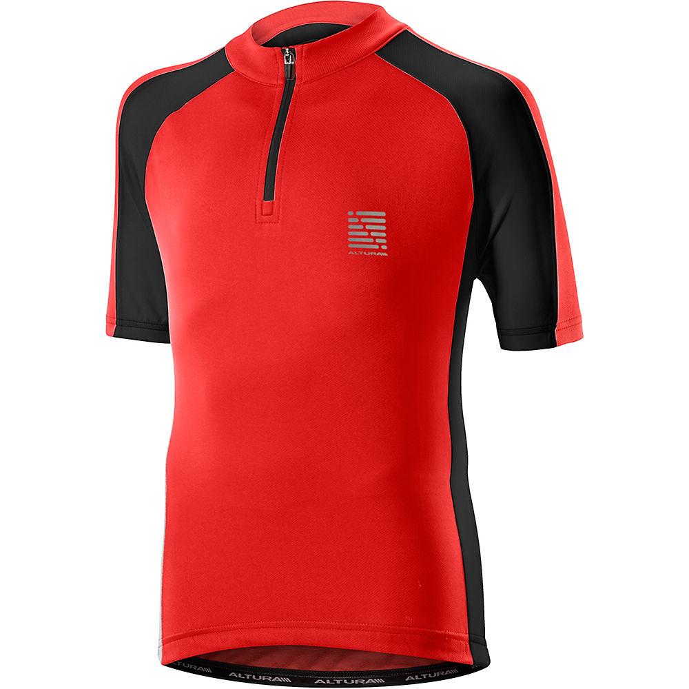 Altura Kids Sprint Short Sleeve Jersey 2019 - Red-black - 5-6 Years  Red-black
