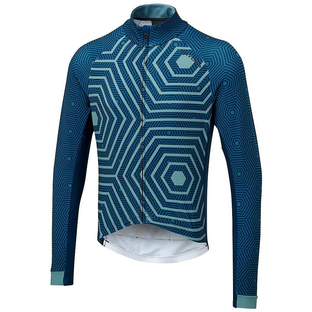 Altura Icon Long Sleeve Jersey - Hex-Repeat - Teal-Blue, Teal-Blue