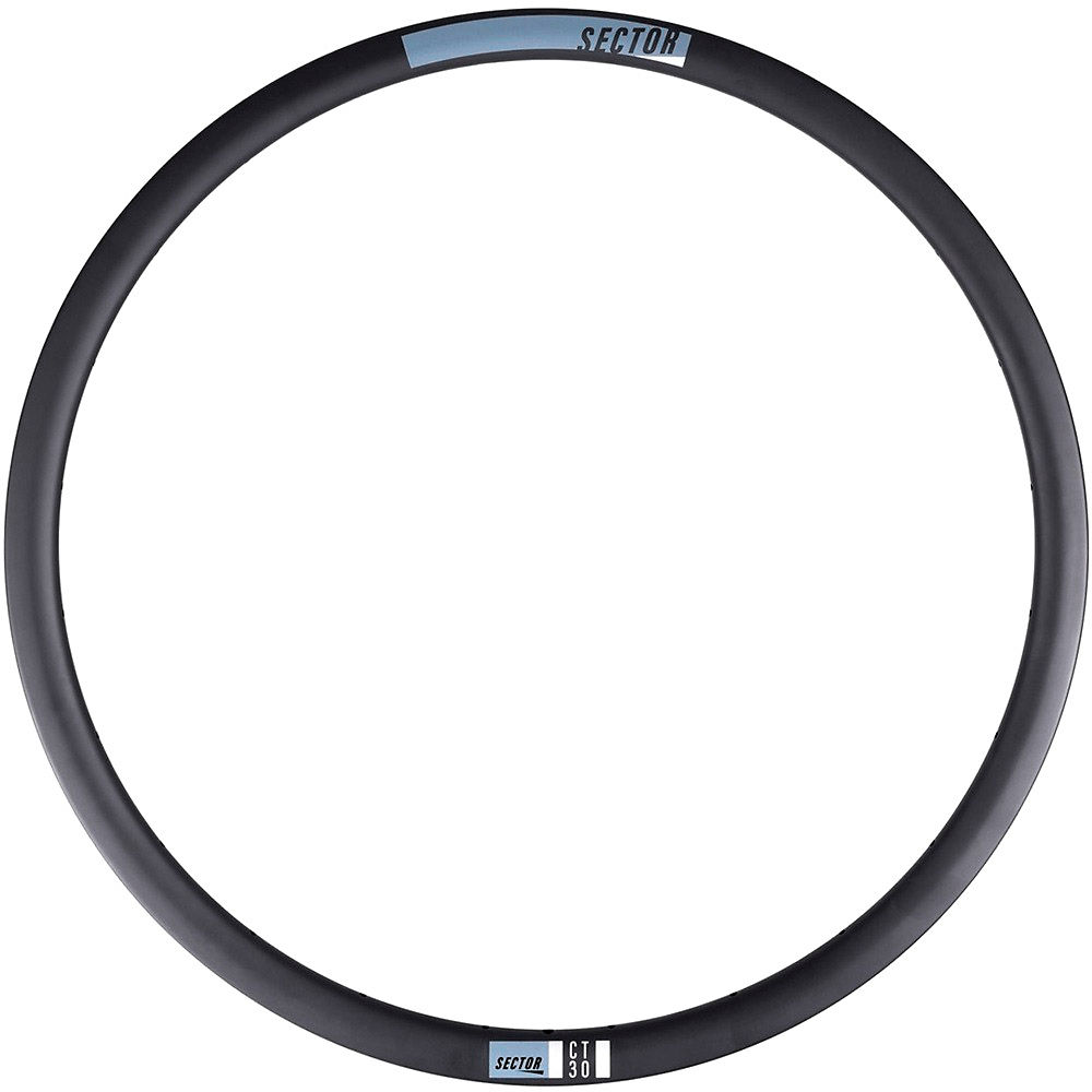 Image of Sector CT30 Carbon Front CX Rim - Noir - 24H, Noir