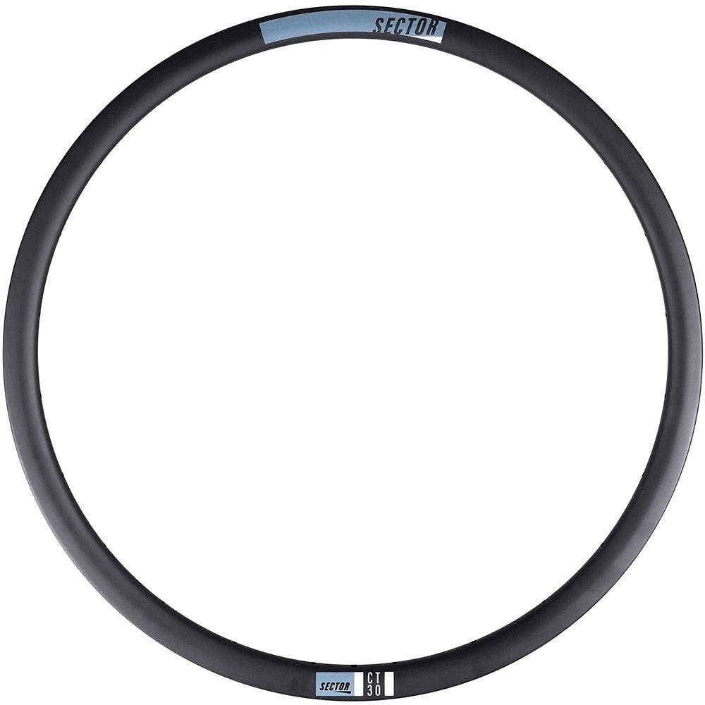 Image of Sector CT30 Carbon Front CX Rim - Noir - 24H, Noir