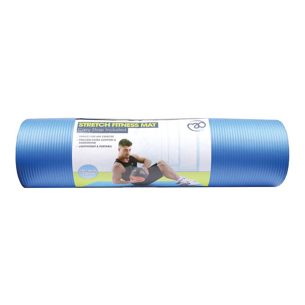 Fitness-mad Stretch Fitness Mat (10mm) - Light Blue  Light Blue