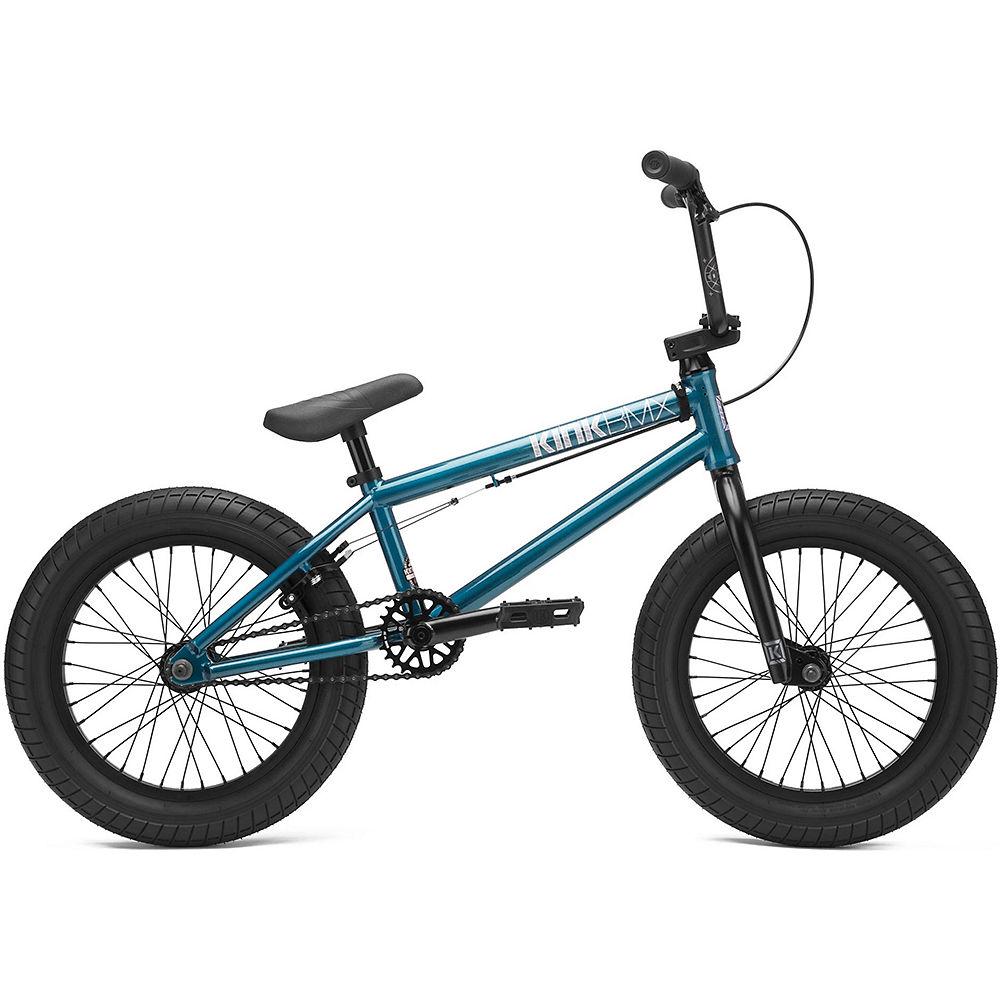 "Image of Kink Carve 16"" BMX Bike (2021) - Gloss Digital Teal, Gloss Digital Teal"