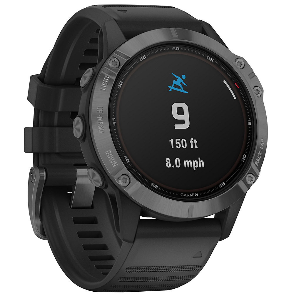 Garmin Fenix 6 Pro Solar GPS Watch - Slate Grey with Black Band, Slate Grey with Black Band