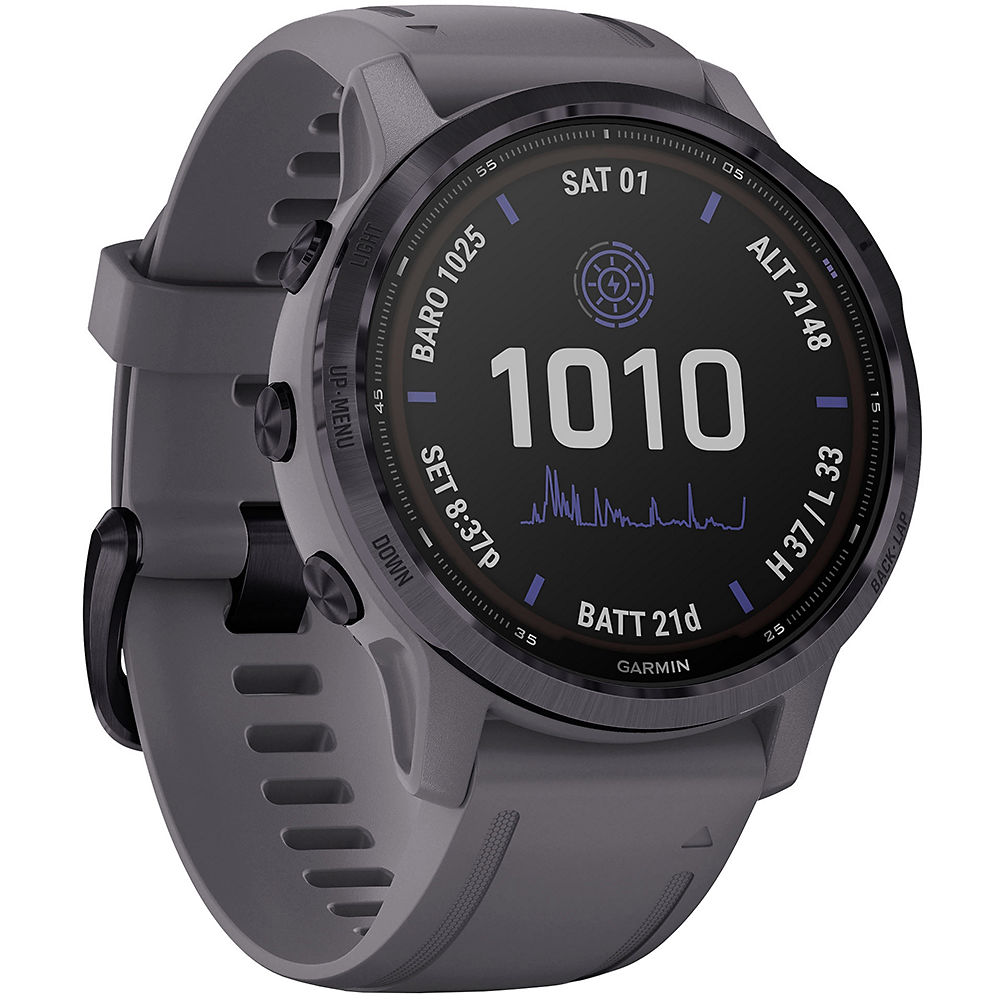 Garmin Fenix 6S Pro Solar GPS Watch - Amethyst with Shale Band, Amethyst with Shale Band