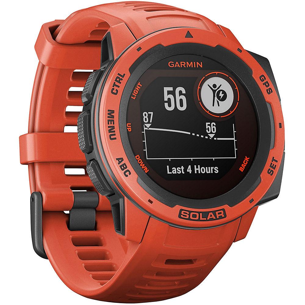Garmin Instinct Solar GPS Watch - Flame Red, Flame Red