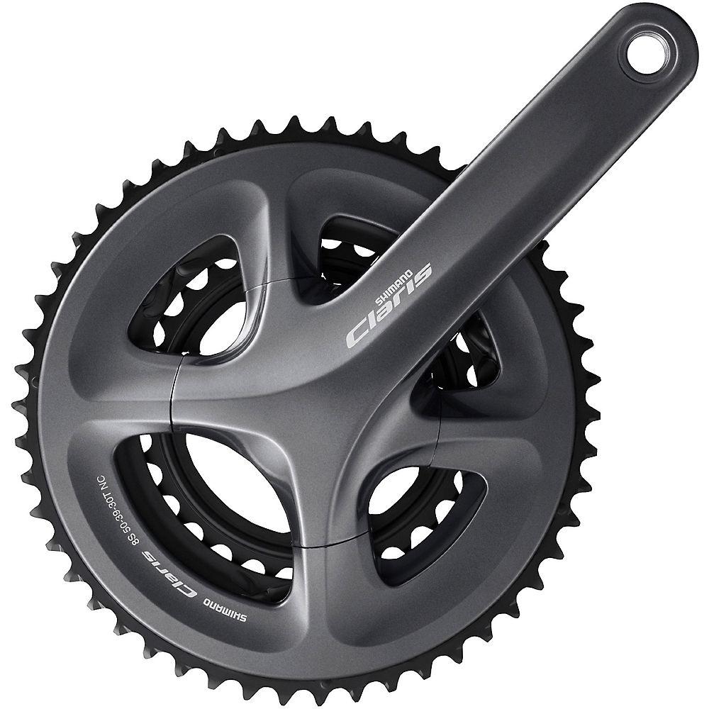 Shimano Claris R2000 8 Speed Triple Chainset - Black - 52.39.30t, Black