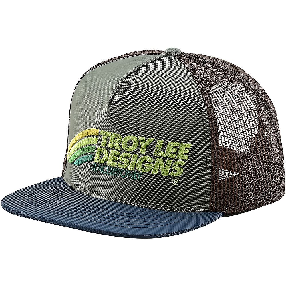 Troy Lee Designs Velo Snapback Hat 2020 - Green-brown - One Size  Green-brown