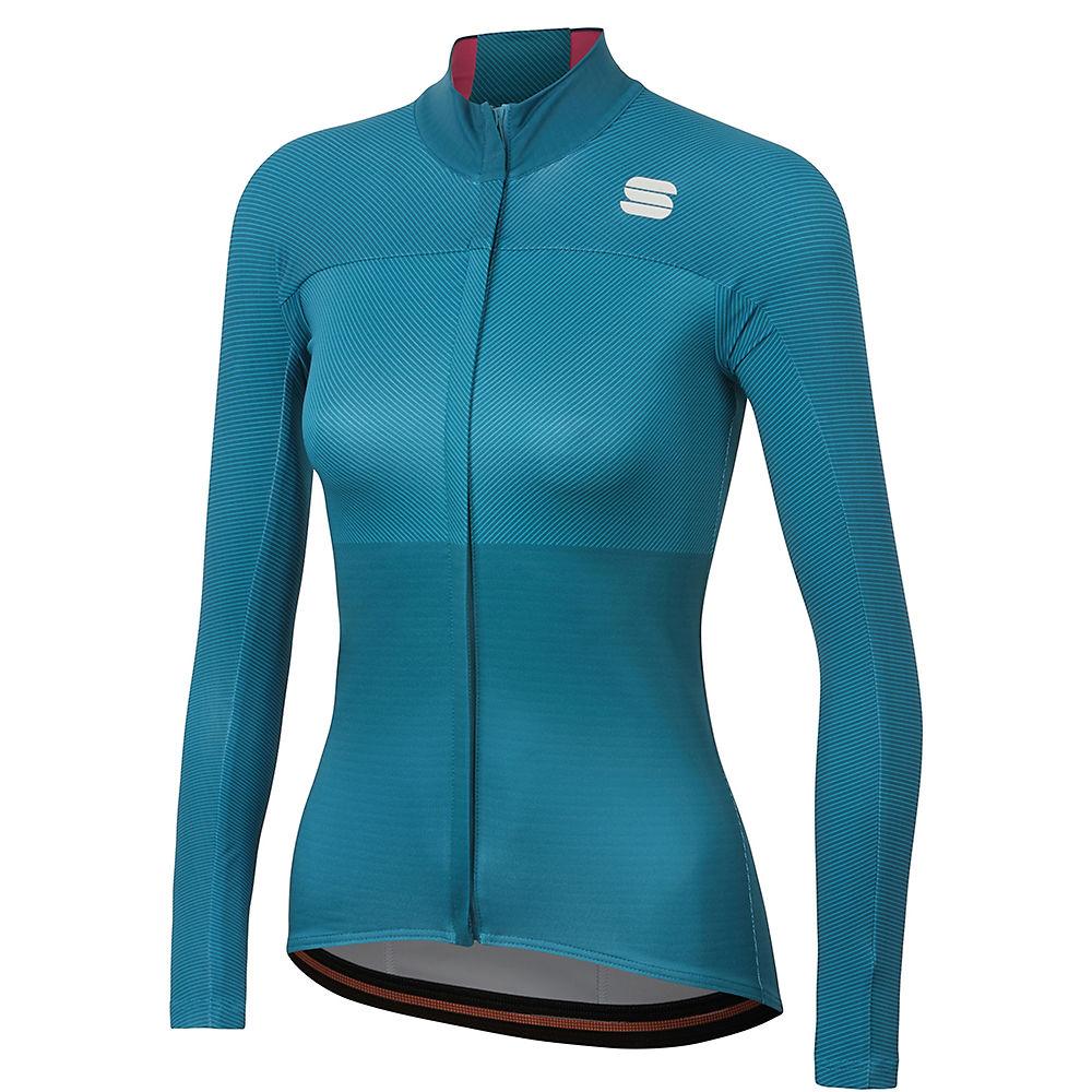 Sportful Womens Bodyfit Pro Thermal Jersey  - Blue Corsair-bubble Gum  Blue Corsair-bubble Gum
