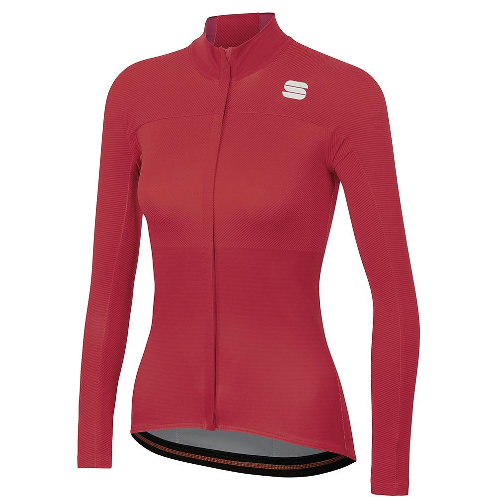 sportful women's bodyfit pro thermal jersey  - xl - red rumba-bubble gum