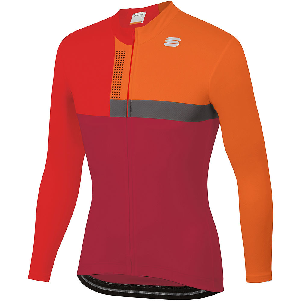 Sportful Bold Thermal Jersey  - Red Rumba-anthracite  Red Rumba-anthracite