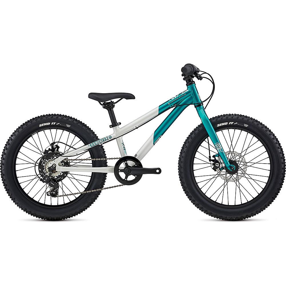 Commencal Ramones 20 Kids Bike 2021 - Pearl White - Lagoon, Pearl White - Lagoon