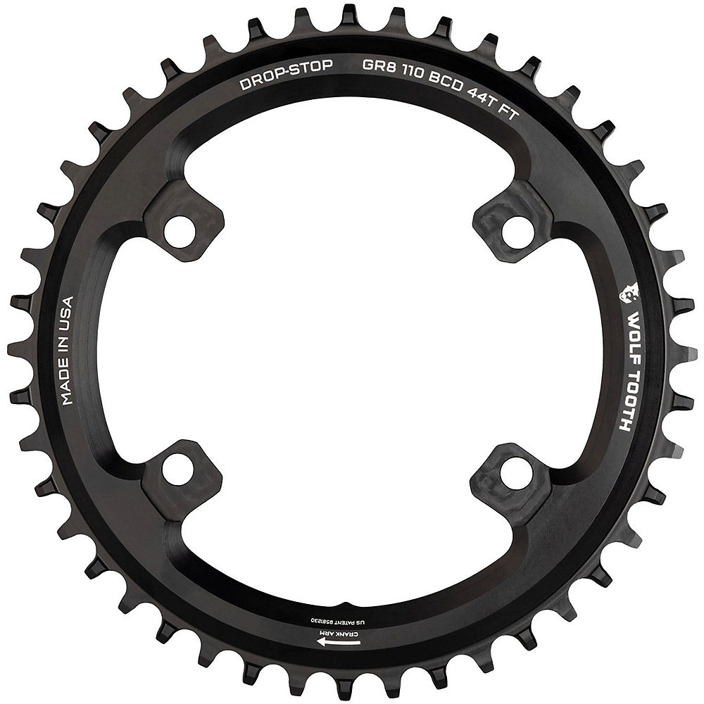 Wolf Tooth Shimano GRX 110 BCD Chainring - Black - 110mm, Black