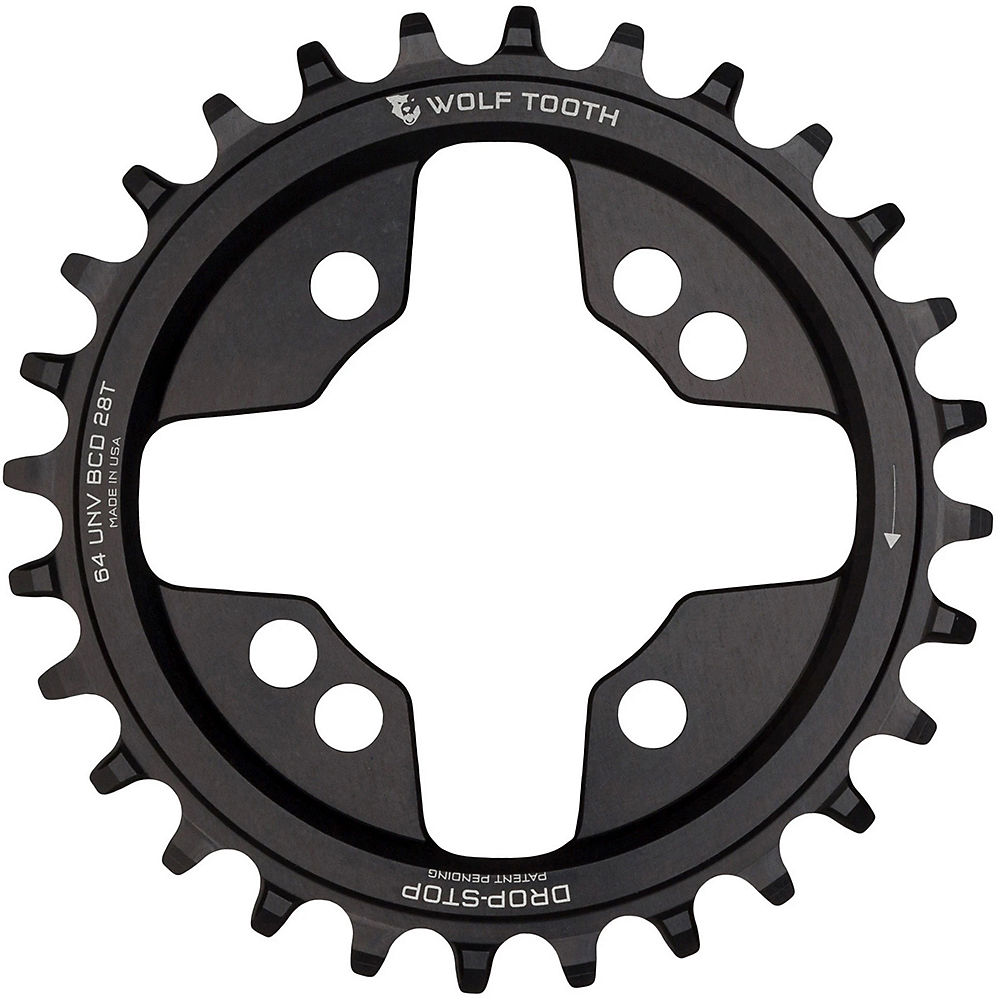 Wolf Tooth 64 Bcd Chainring - Black - 26t  Black