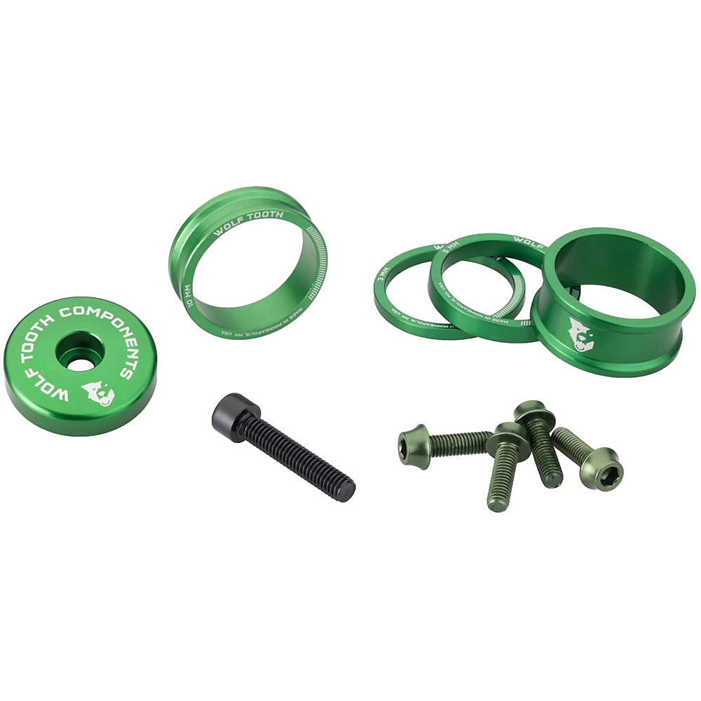 Wolf Tooth Anodised Bling Kit - Green, Green