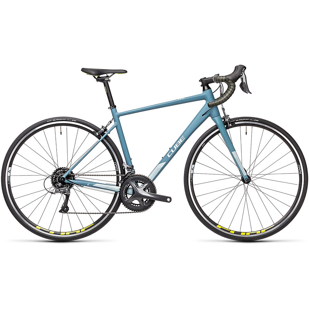 """Image of Cube Axial WS Road Bike 2021 - Greyblue - Lime - 50cm (19.5""""), Greyblue - Lime"""