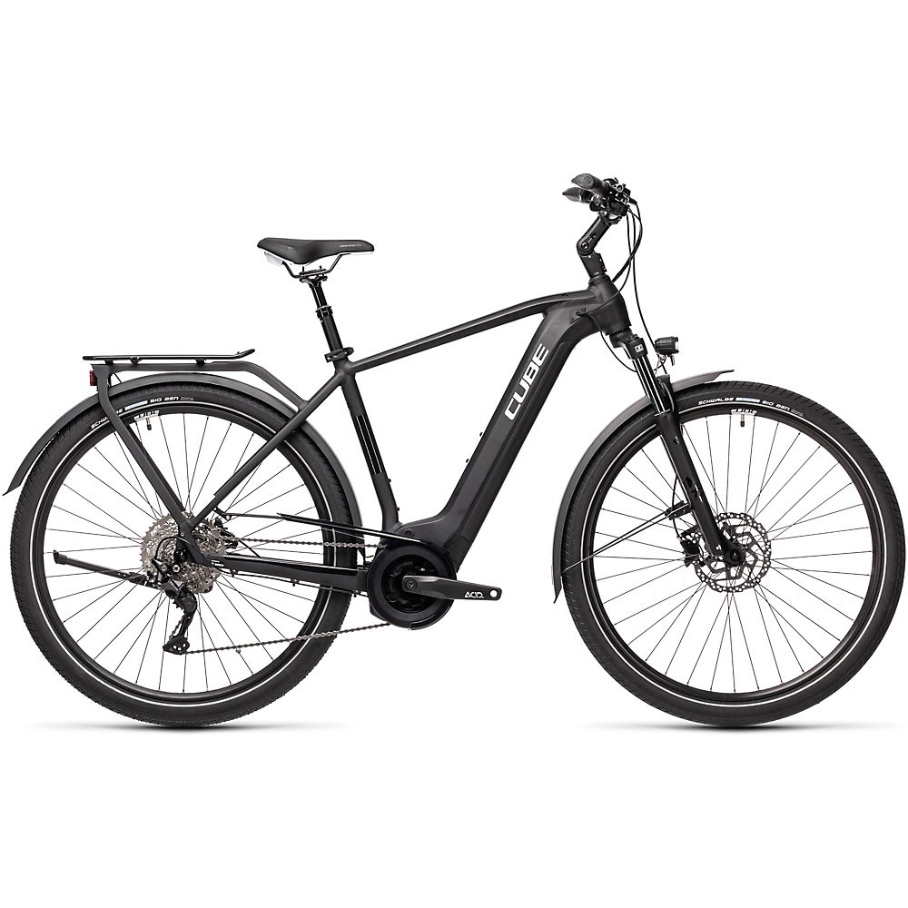 Cube Touring Hybrid Pro 500 E-Bike 2021 - Black - White - 62cm (24.5