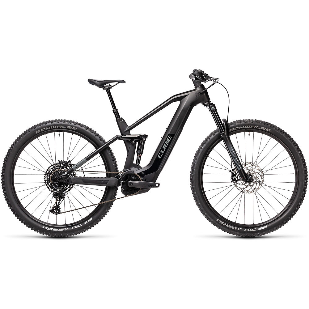 Cube Stereo Hybrid 140 HPC Race 625 E-Bike 2021 - Black - Grey - 40cm (16