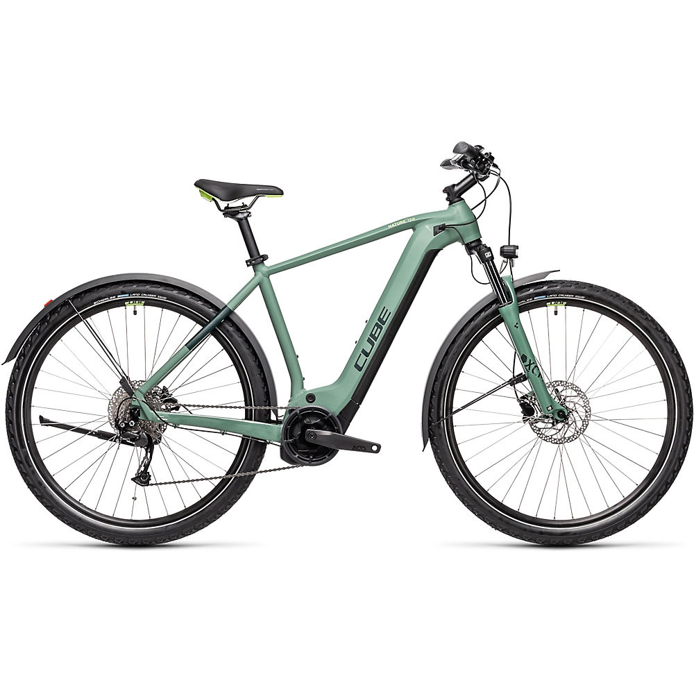 Cube Nature Hybrid One 500 Allroad E-Bike 2021 - Green - Green - 54cm (21