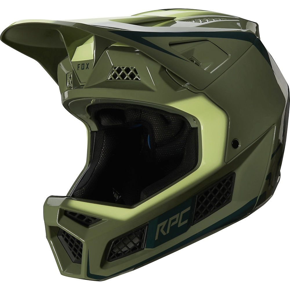 Fox Racing Rampage Pro Carbon Full Face MTB Helmet  - Pine - S, Pine