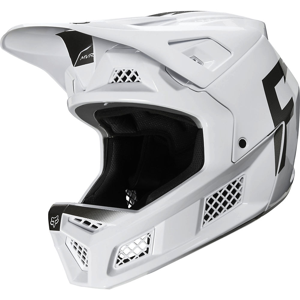 Fox Racing Rampage Pro Carbon Full Face MTB Helmet  - Blanco, Blanco