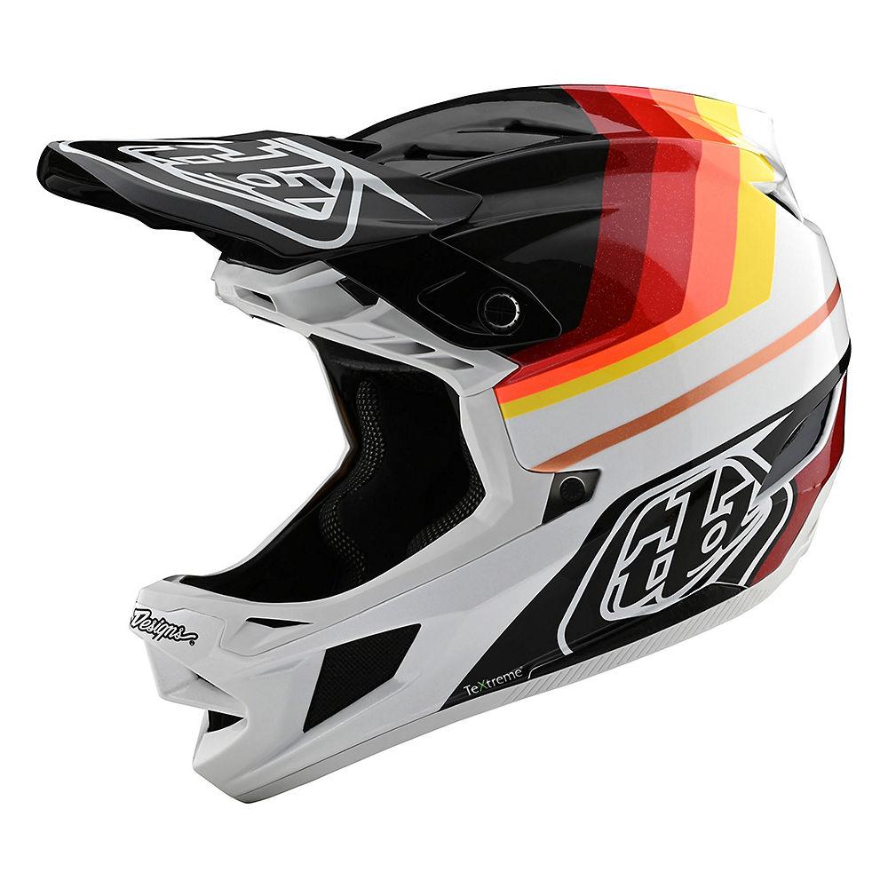 Troy Lee Designs D4 Mirage Carbon Helmet (MIPS)  - Negro/Rojo, Negro/Rojo
