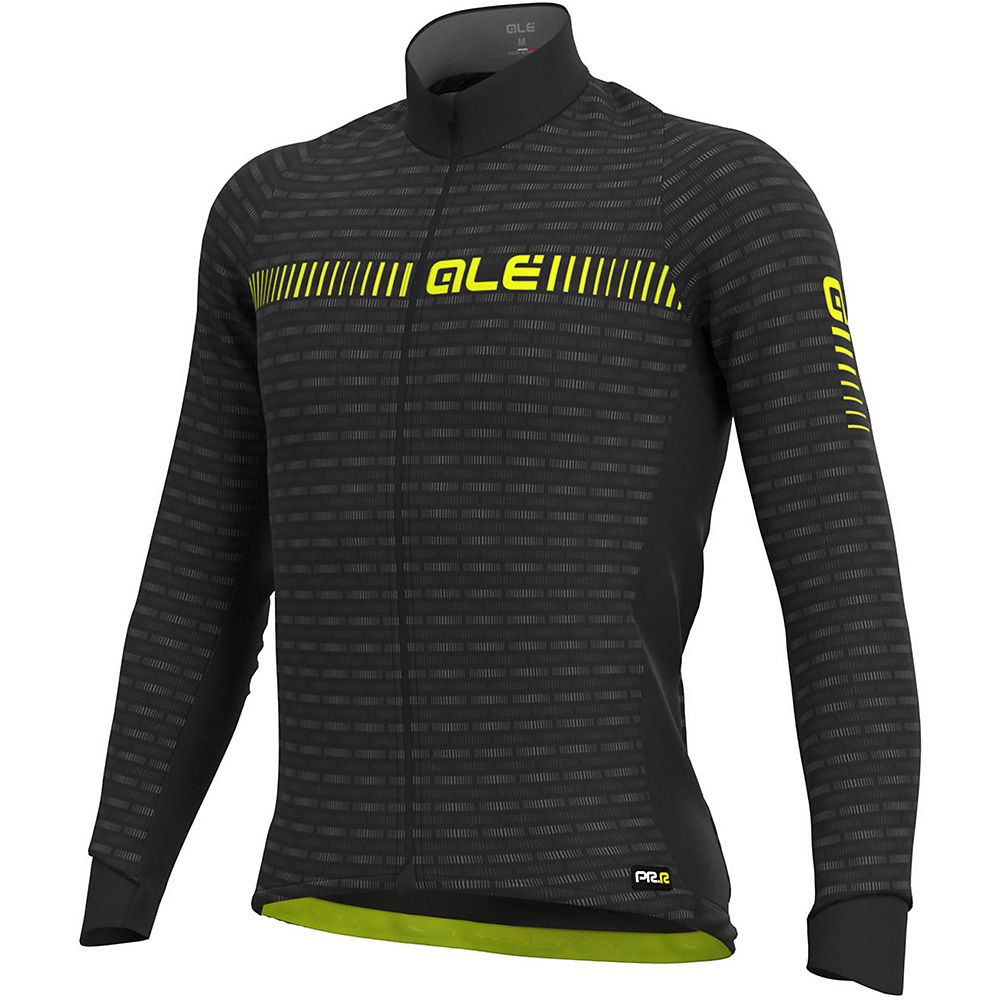 Alé Graphics PRR Green Road Winter Jersey - Black Yellow - XXL, Black Yellow