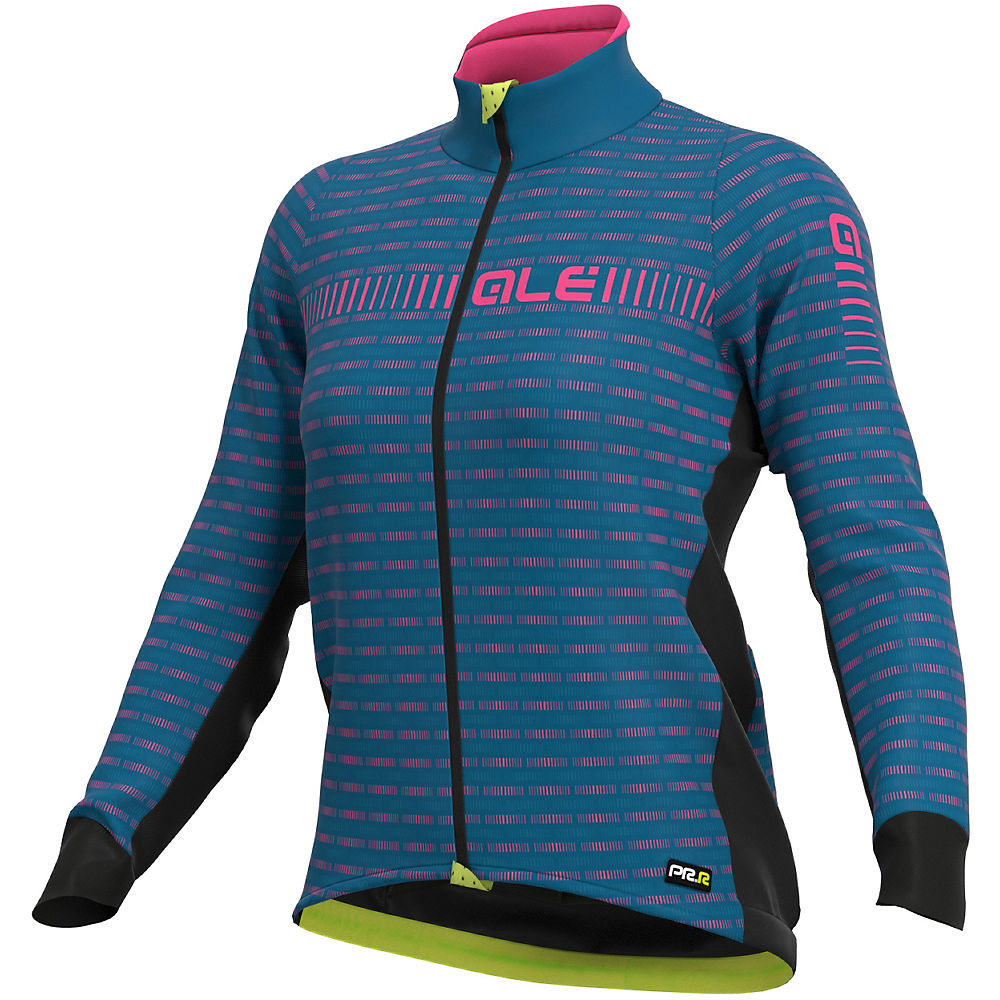 Alé Women's Graphics PRR Green Road Jacket - Azure Blue-Fluro Pink, Azure Blue-Fluro Pink