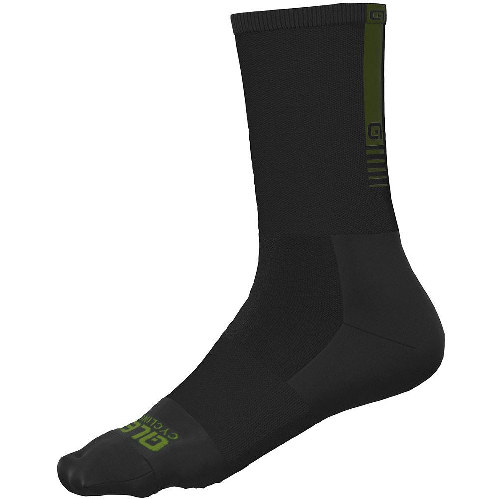 Ale Thermo Green Socks H18 - Black  Black