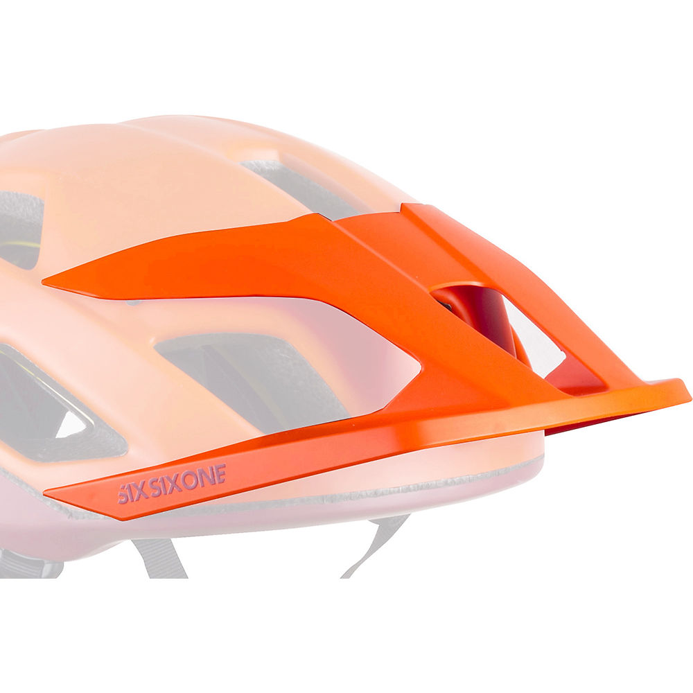 SixSixOne Crest MTB Helmet Visor 2020 - Orange - One Size, Orange