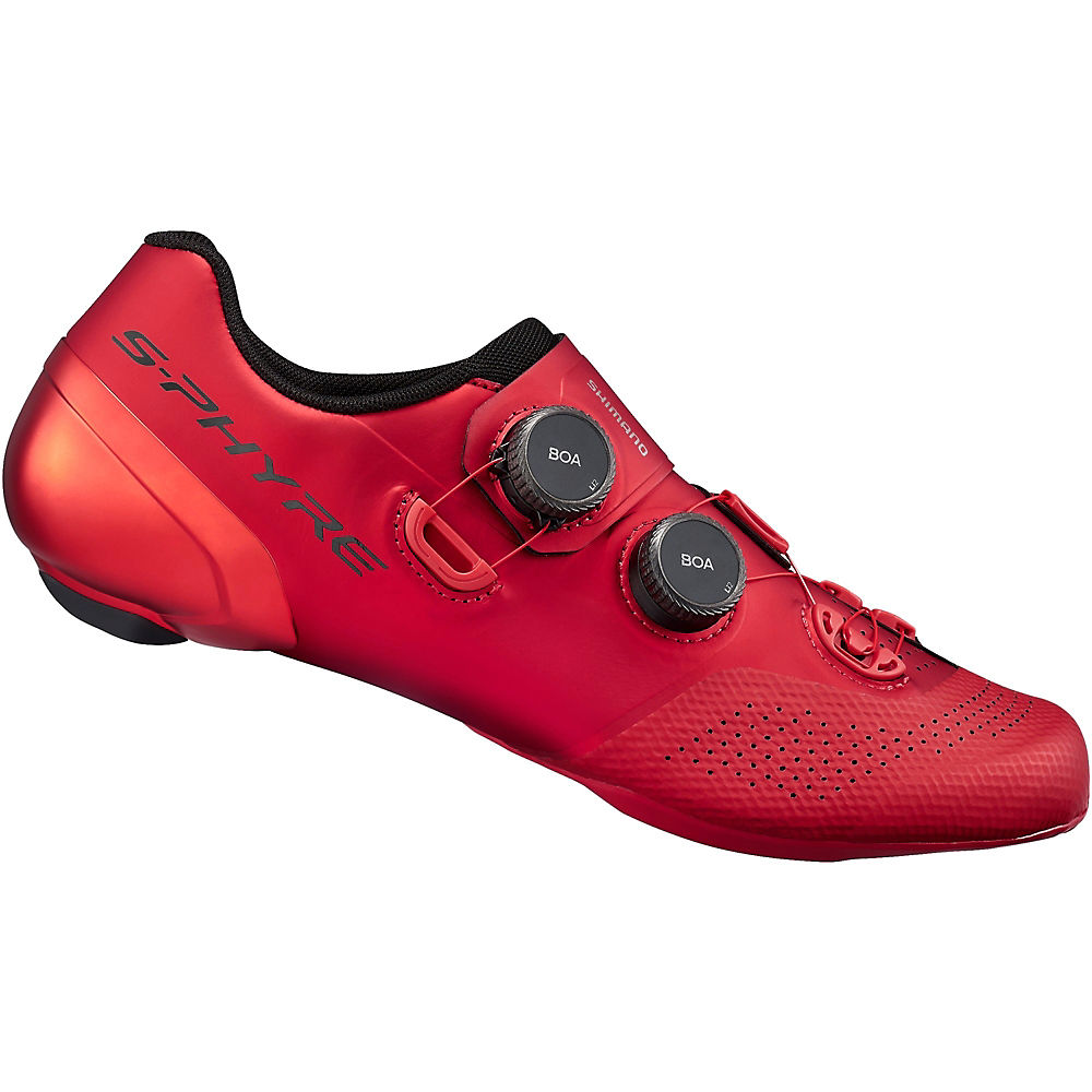 Shimano Rc9 Spd-sl S-phyre Road Shoes (rc902) 2021 - Red - Eu 43  Red