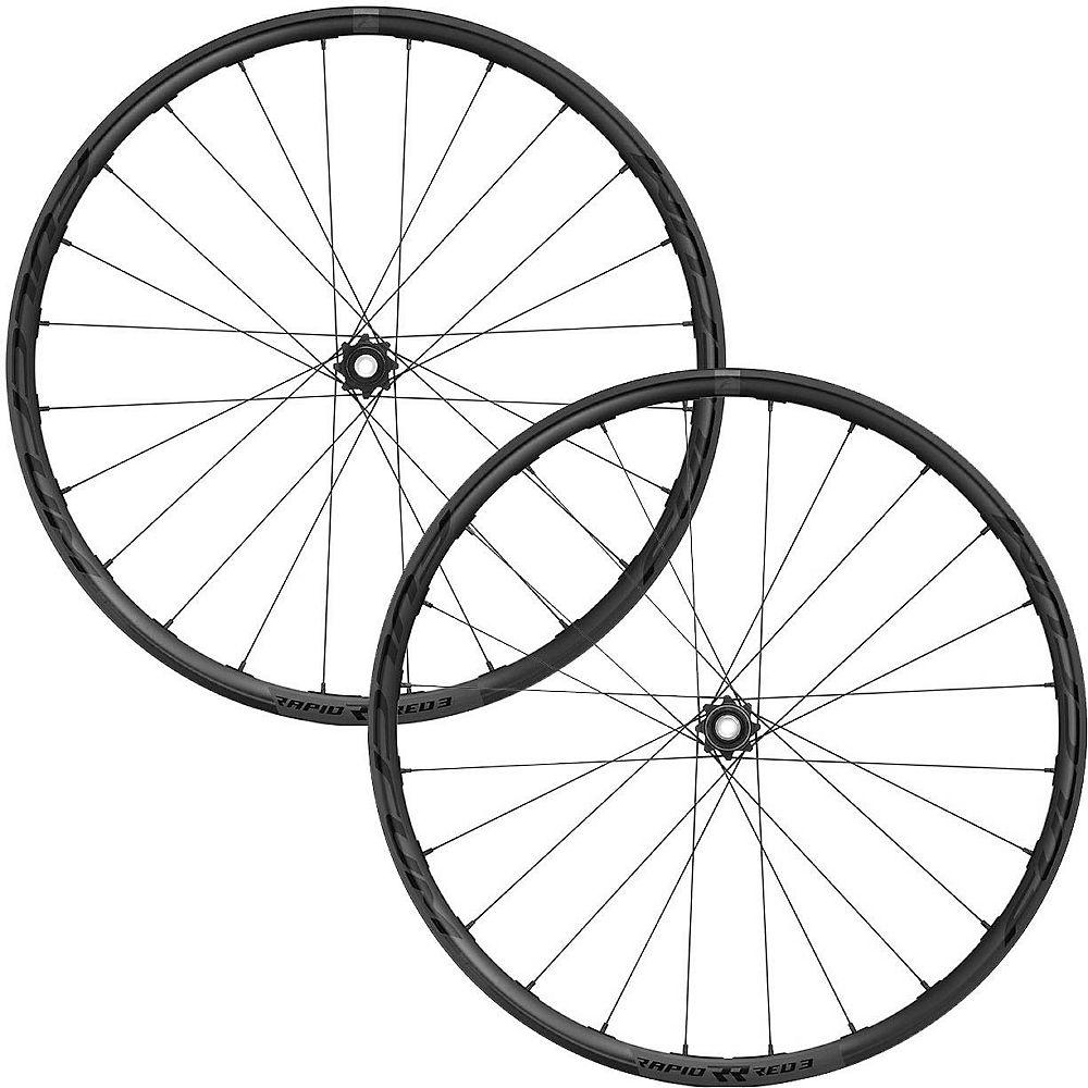 Fulcrum Rapid Red 3 C24 Gravel Wheelset - Black - Shimano  Black