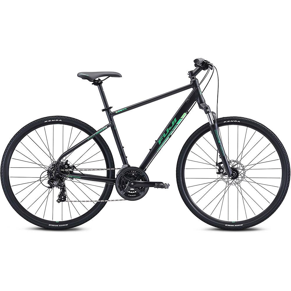 Fuji Traverse 1.7 Urban Bike 2021 - Satin Black - Green - 19  Satin Black - Green