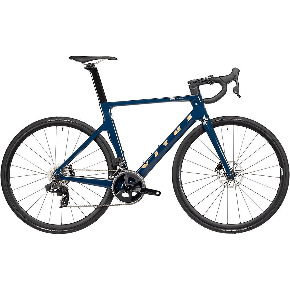 Vitus ZX-1 EVO CR eTap Road Bike (Rival eTap) 2021 - Midnight Blue-Gold - XS, Midnight Blue-Gold