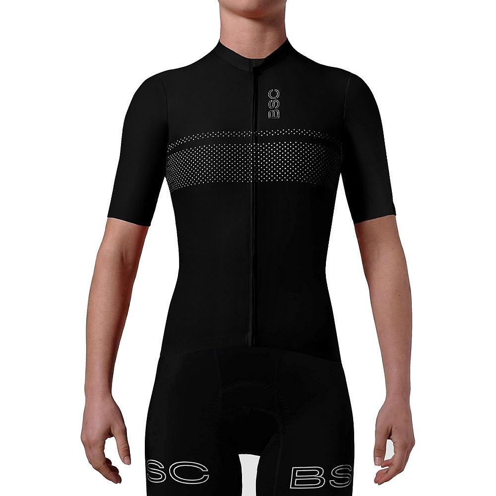black sheep cycling women's dot jersey (black)
