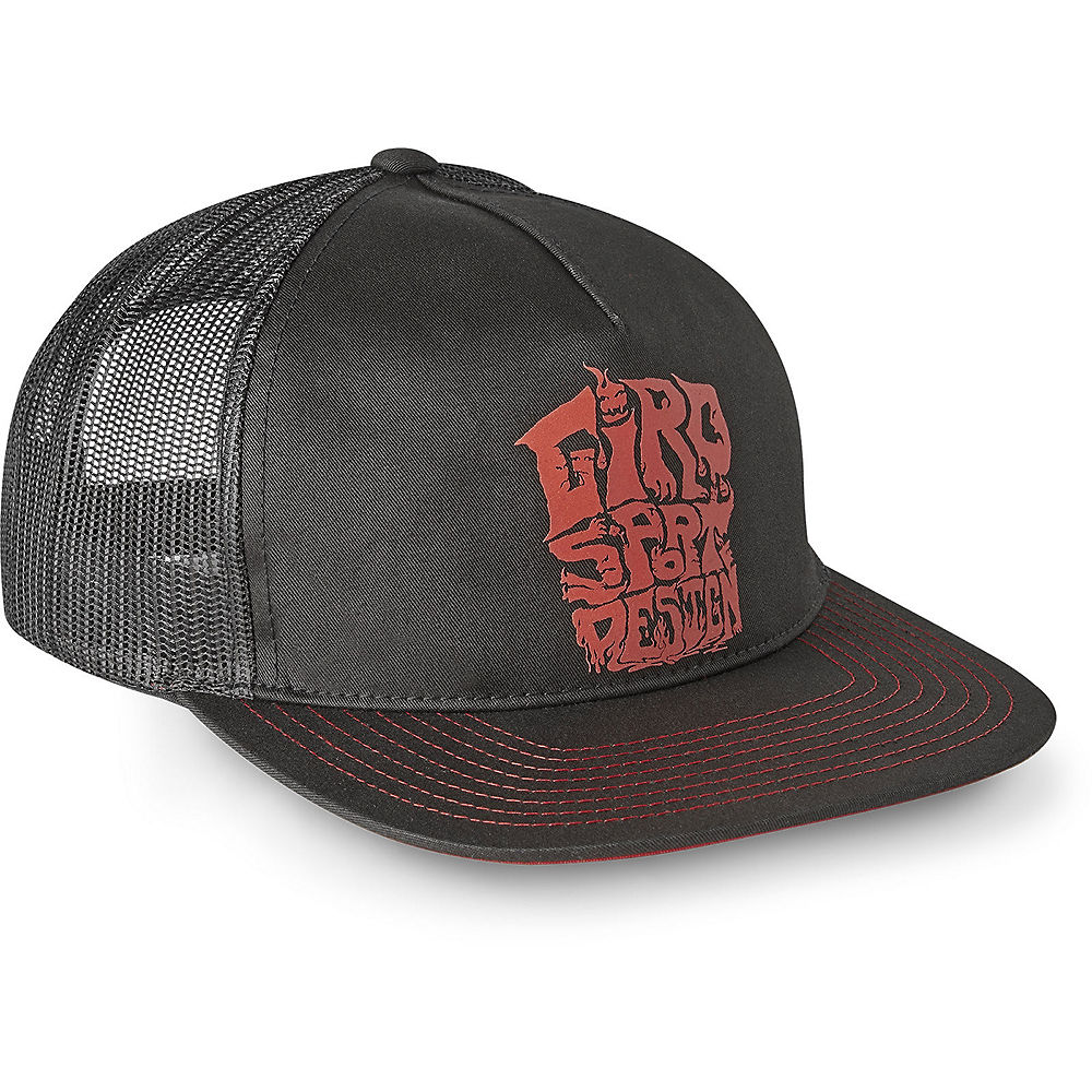 Giro Retro Trucker Cap 2019 - Black Red Ghouls - One Size  Black Red Ghouls
