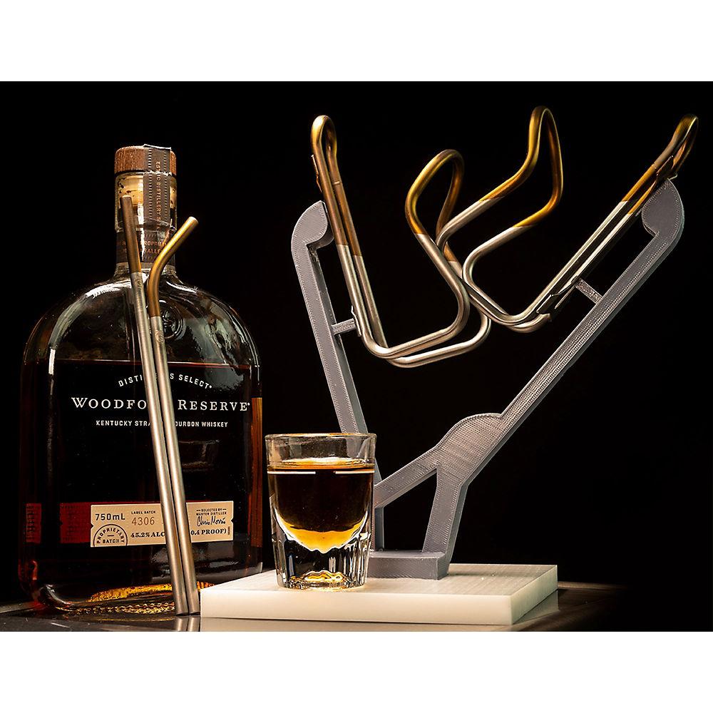 ComprarSilca Sicuro Titanium Bottle Cage & Straw Set - Matte Bourbon - Inc. 2x Cages and Straws, Matte Bourbon