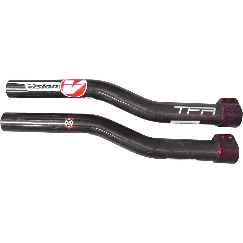Vision R-bend Carbon Extensions - Black - 350mm  Black