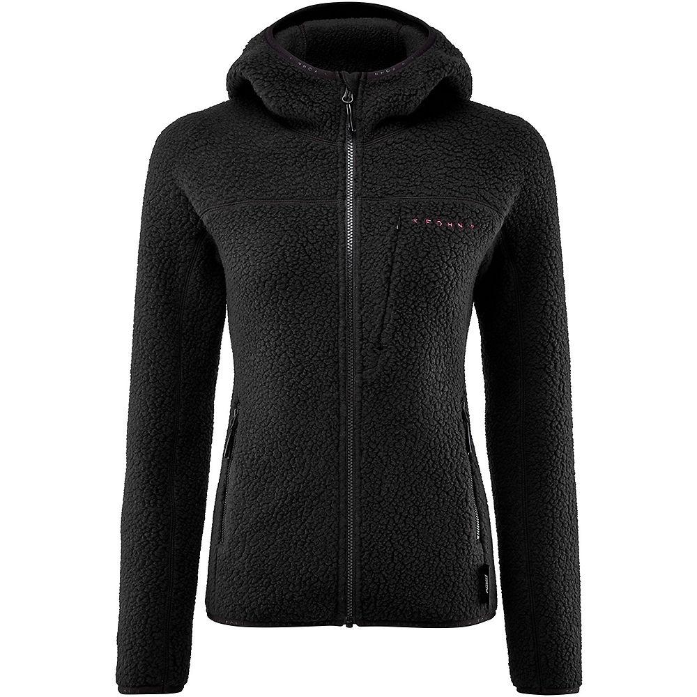 Fohn Womens Polartec Big Pile Hooded Fleece - Black - Uk 10  Black