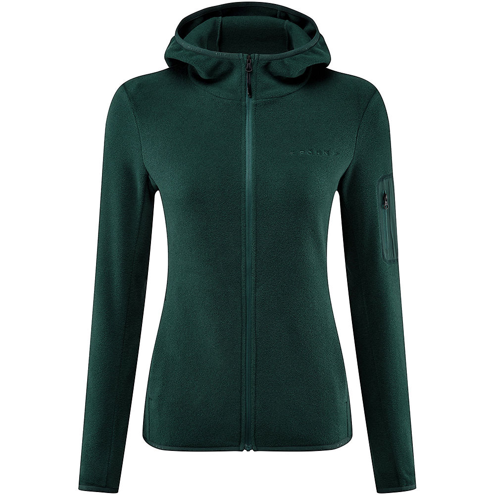Fohn Womens Trail Hooded Recycled Fleece - Green - Uk 10  Green