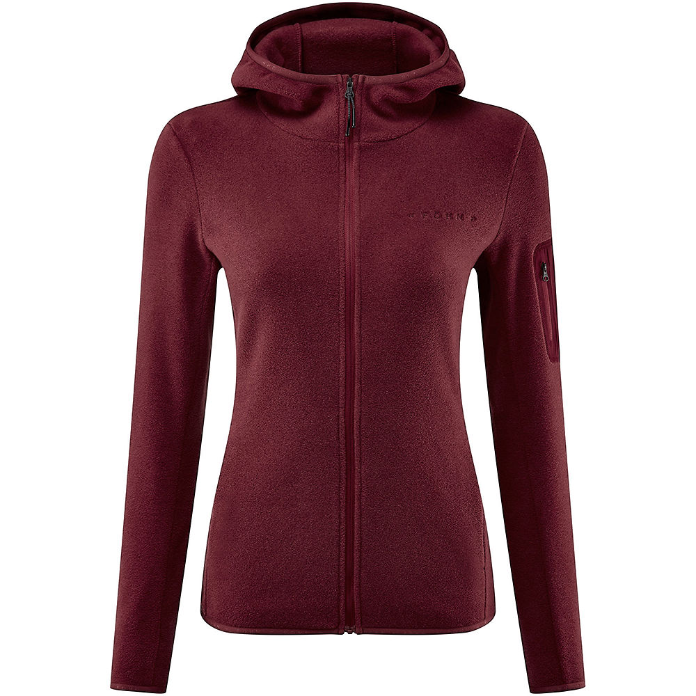 Fohn Womens Trail Hooded Recycled Fleece - Red - Uk 10  Red