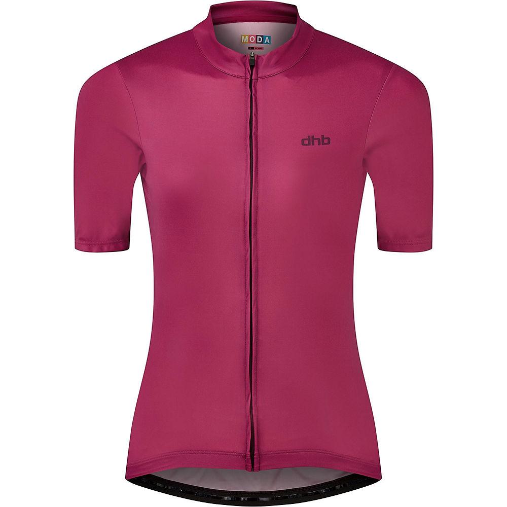 Dhb Moda Womens Short Sleeve Jersey  - Dark Pink - Uk 6  Dark Pink