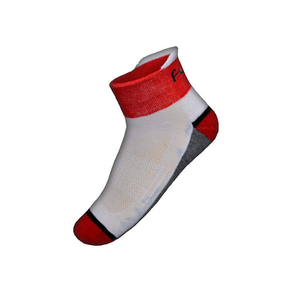 Funkier Gandia Summer Socks 2021 - White-red  White-red