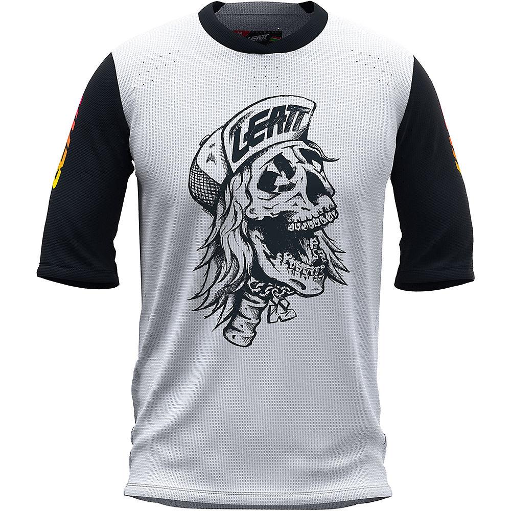 Leatt 3.0 80's Skull MTB Jersey 2021 - White - XS, White
