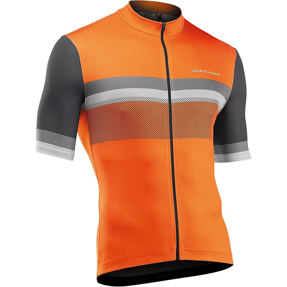 Northwave Origin Short Sleeve Jersey 2021 - Orange-grey - Xl  Orange-grey
