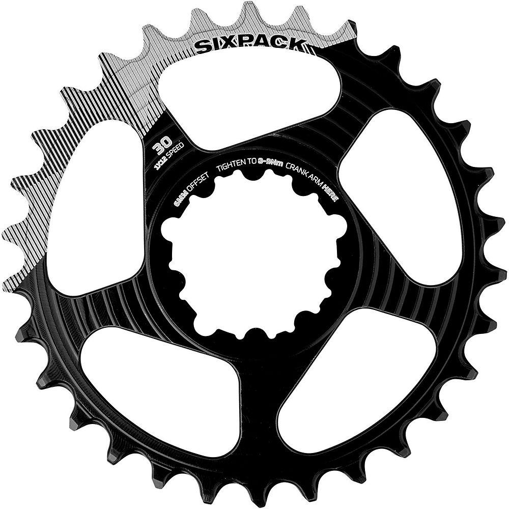 Sixpack Racing K-ring Sram Dm Chainring - Black - Grey - 3mm Offset  Black - Grey
