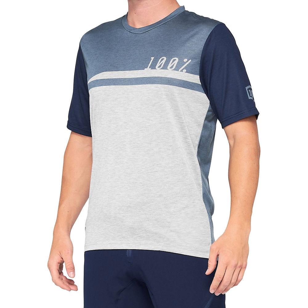 100% AIRMATIC Jersey 2021 - Steel Blue-Grey - XL, Steel Blue-Grey